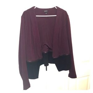 Torrid Blazer, Wine and Black